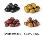 Small photo of Olives on a white background