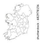 map of ireland | Shutterstock .eps vector #682978156