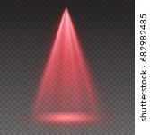 red light scanner or laser... | Shutterstock .eps vector #682982485