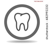 tooth icon dental care symbol... | Shutterstock .eps vector #682992232