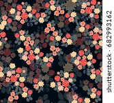 flowery bright pattern in small ... | Shutterstock .eps vector #682993162