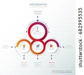 vector infographic 3d circle...   Shutterstock .eps vector #682995535