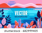 vector illustration in trendy... | Shutterstock .eps vector #682999405