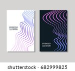 minimal covers design set.... | Shutterstock .eps vector #682999825