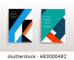 covers with minimal design.... | Shutterstock .eps vector #683000482