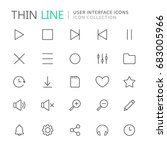 collection of user interface... | Shutterstock .eps vector #683005966