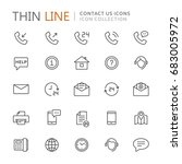 collection of contact us thin... | Shutterstock .eps vector #683005972
