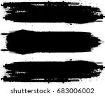 grunge paint stripe . vector... | Shutterstock .eps vector #683006002