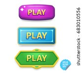 colorful buttons with play...
