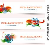 indian independence day... | Shutterstock .eps vector #683014486