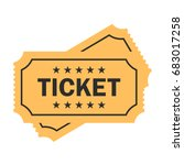 old paper ticket vector icon on ... | Shutterstock .eps vector #683017258