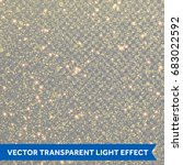glitter gold star dust light... | Shutterstock .eps vector #683022592