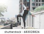 skateboard extreme sport skater ... | Shutterstock . vector #683028826