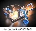 3d rendering  car frame and... | Shutterstock . vector #683032426