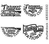 vintage hunting club emblems ... | Shutterstock . vector #683033332