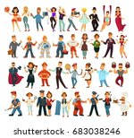 characters of various...   Shutterstock .eps vector #683038246