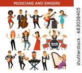 musicians rock  jazz and...   Shutterstock .eps vector #683038405