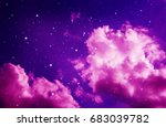 space of night purple sky with... | Shutterstock . vector #683039782