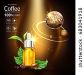 coffee collagen serum and... | Shutterstock .eps vector #683041918