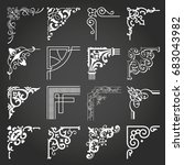 decorative frames and borders... | Shutterstock .eps vector #683043982