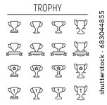 set of trophy icons in modern... | Shutterstock .eps vector #683044855