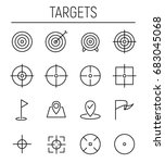 set of target icons in modern... | Shutterstock .eps vector #683045068