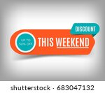 creative sale banner  this... | Shutterstock .eps vector #683047132