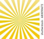 yellow color sun rays sunburst... | Shutterstock .eps vector #683050672