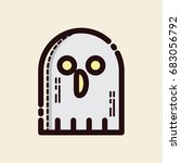 ghost icon halloween flat  | Shutterstock .eps vector #683056792