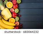 fruits and berries. assortment... | Shutterstock . vector #683064232
