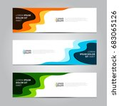 vector abstract design banner... | Shutterstock .eps vector #683065126
