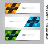 vector abstract design banner... | Shutterstock .eps vector #683065132