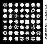 mandala lace snowflake. vector  ... | Shutterstock .eps vector #683066416
