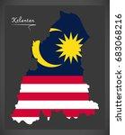 kelantan malaysia map with... | Shutterstock .eps vector #683068216