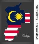 putrajaya malaysia map with... | Shutterstock .eps vector #683068282