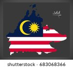 sabah malaysia map with... | Shutterstock .eps vector #683068366