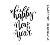 happy new year hand lettering... | Shutterstock .eps vector #683068996