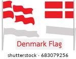 flag of denmark in vector on... | Shutterstock .eps vector #683079256