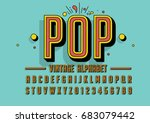 vector of retro colorful font... | Shutterstock .eps vector #683079442