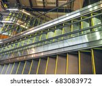 escalator in pavilion shopping... | Shutterstock . vector #683083972