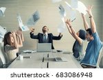 celebrating success. group of... | Shutterstock . vector #683086948