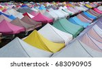 street market roof | Shutterstock . vector #683090905
