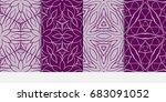 set of modern pattern of... | Shutterstock .eps vector #683091052