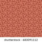 decorative seamless geometric...   Shutterstock .eps vector #683091112