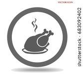 chicken vector icon | Shutterstock .eps vector #683092402