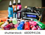 tattoo machine with needles ... | Shutterstock . vector #683094136