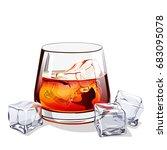 glass of scotch | Shutterstock .eps vector #683095078