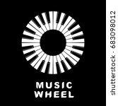 music logo piano keyboard as...   Shutterstock .eps vector #683098012