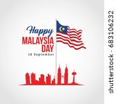 malaysia independence day... | Shutterstock .eps vector #683106232
