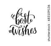 best wishes hand lettering... | Shutterstock .eps vector #683109136